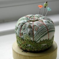 Miniature Pincushion, Vintage Pumpkin