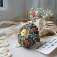 Mustard Flowers, Pumpkin Pincushion Ring