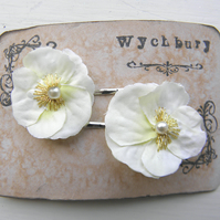Little Ivory Viola Clips