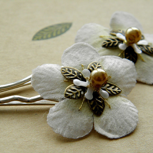 Rose of York Hair Clips