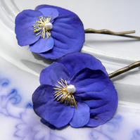 China Blue Viola Clips