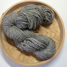 Handspun Naalbinding Natural Grey Yarn BFL 100 gr Custom Order