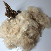 Soyabean Staple Vegan Spinning Fibre 100 grams  cellulose roving
