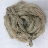 Natural Unbleached Flax Vegan Spinning Fibre 100 grams  cellulose roving