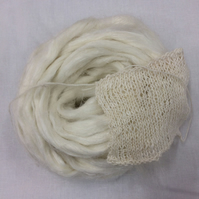 Bleached Flax Top Vegan Spinning Fibre 100 grams Linen cellulose roving sliver