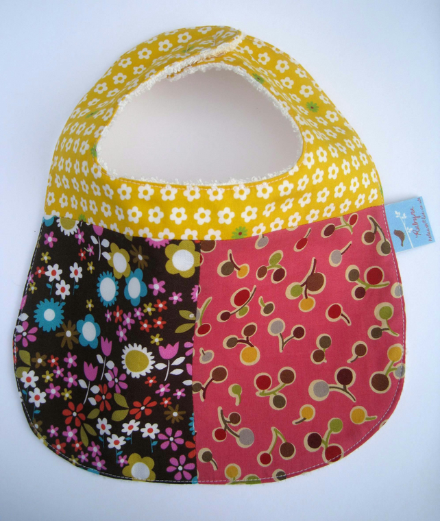 Flowers and Cherries Bib