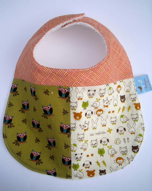 Owl and Animal Bibs