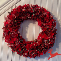 Tartan and Red Rag wreath
