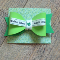 Made In Ireland Foam Hair Bow, Irish Hair Bow