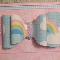 Rainbows and Glitter Hair Bow