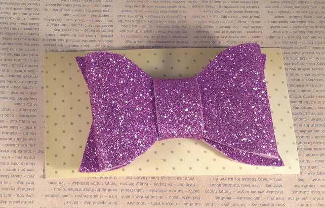 Purple Sparkly Glitter Foam Bows
