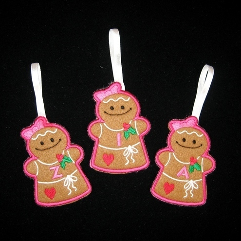 Personalised Gingerbread Person Tree Decoration