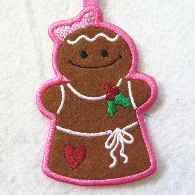 Gingerbread Woman Tree Decoration