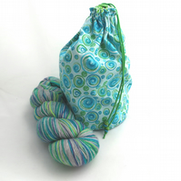Paisley Swirls Reversible Project Bag