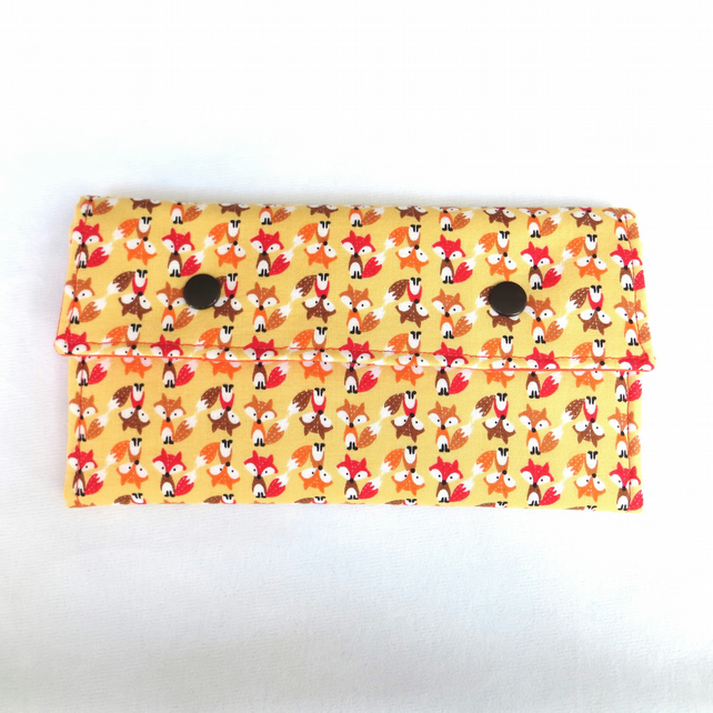 Fabric Purse - Mini Foxes