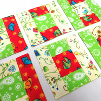 Patchwork Coaster Set - Spring Has Sprung