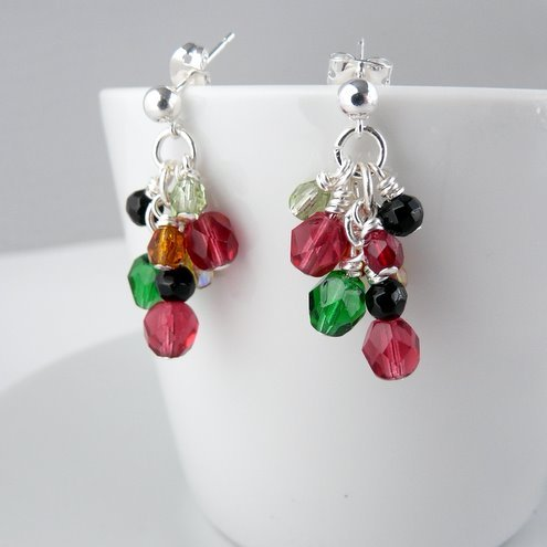 Bright and shiny dangle earrings