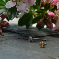 Super small, tiny 3mm circle stud earrings