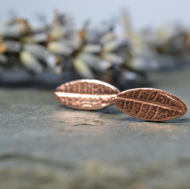 Little oval copper leaves
