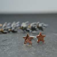 Teeny tiny hammered copper stars