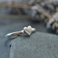 Sterling silver heart ring - Valentine