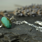 Green turquoise czech glass necklace