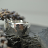 Chunky heavy sterling silver mens  ring