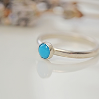 Turquoise stacking birthstone ring