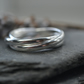 3 band sterling silver ring, russian wedding ring, rolling ring