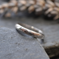Simple Hammered Sterling Silver Ring