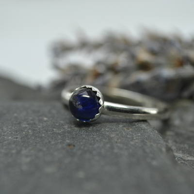 September Birthstone- Sapphire stacking ring