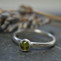 August Birthstone- Peridot stacking ring