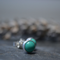 Turquoise and silver studs