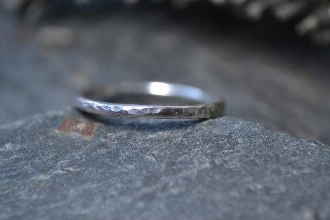 Skinny sterling silver ring