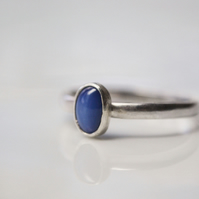 Star Sapphire stacking ring - September birthstone