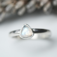 Moonstone trillion ring