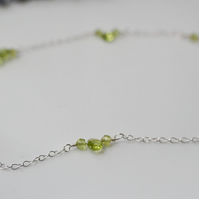 Peridot and sterling silver necklace