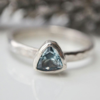 Sky blue topaz stacking ring