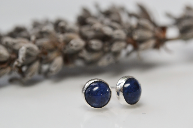 Sodalite and sterling silver studs