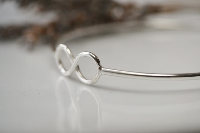 Sterling silver infinity bangle