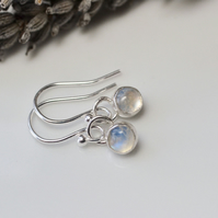 Moonstone drop dangle earrings