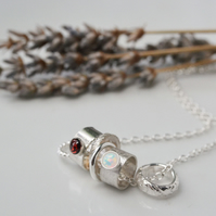 Birthstone charm necklace