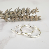 Facet hoop earrings