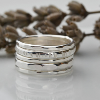 Sterling silver stacking ring set