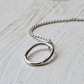 Simplicity - oval pendant made with recycled sterling silver