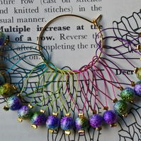 Knitting stitch markers rainbow sparkles
