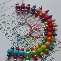 20 Knitting stitch markers Bubblegum