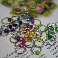 40 Knitting stitch markers rings