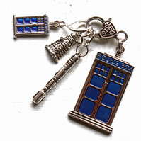 Dr Who theme stitch marker keeper