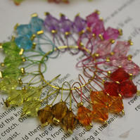 Knitting stitch marker bicones set of 30